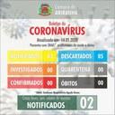 Boletim diário Corona Vírus (COVID-19) – 14/05/2020